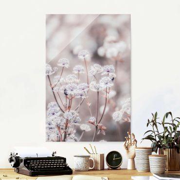 Glasbild - Federleichte Wildblumen - Hochformat