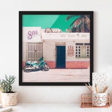 Bild mit Rahmen - Mini Supermarkt Vintage - Quadrat 1:1