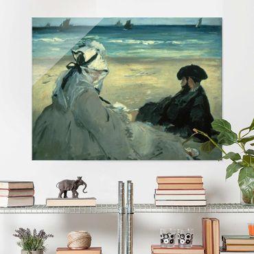 Glasbild - Kunstdruck Edouard Manet - Am Strand - Quer 4:3