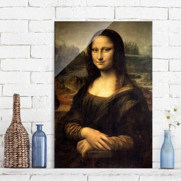Glasbild - Kunstdruck Leonardo da Vinci - Mona Lisa - Hoch 2:3
