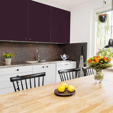 Möbelfolie Aubergine einfarbig - Violett - Klebefolie für Möbel
