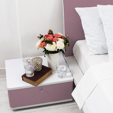 Möbelfolie pink einfarbig - Malve rosa - Folie für Möbel altrosa selbstklebend