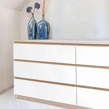 Möbelfolie weiß einfarbig - Polarweiss - Klebefolie Möbel