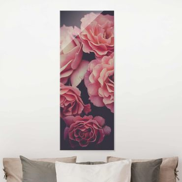 Glasbild - Rosenträume - Hochformat