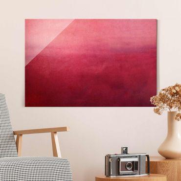 Glasbild - Rote Wüste - Querformat