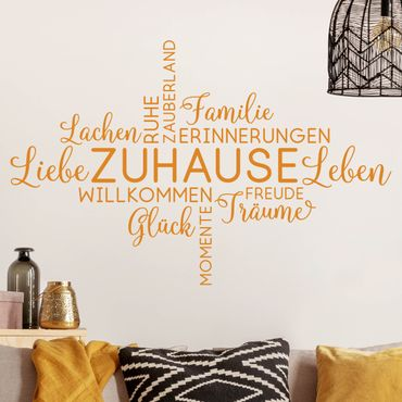 Wandtattoo - Liebe Lachen Familie - Zuhause