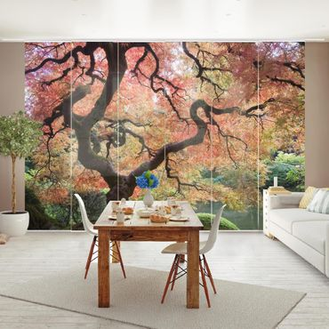 Schiebegardinen Set - Japanischer Garten - Flächenvorhänge