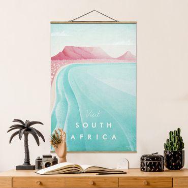 Stoffbild mit Posterleisten - Reiseposter - Südafrika - Hochformat 3:2