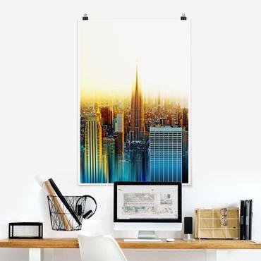 Poster - Manhattan Abstrakt - Hochformat 3:2