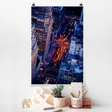 Poster - Manhattans Taxilichter - Hochformat 3:2