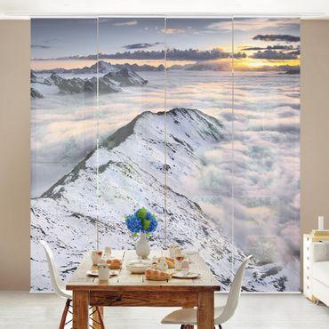 Schiebegardinen Set - Blick über Wolken und Berge - Flächenvorhänge