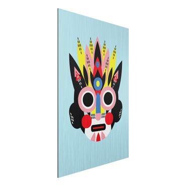 Aluminium Print gebürstet - Collage Ethno Maske - Gesicht - Hochformat 3:2