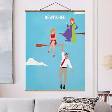 Stoffbild mit Posterleisten - Filmposter Bewitched - Hochformat 3:4