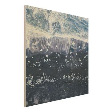 Holzbild - Luftbild - Jökulsárlón in Island - Quadrat 1:1