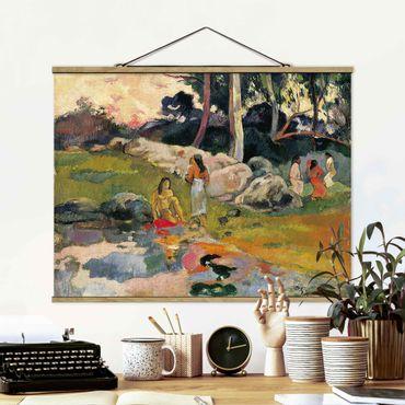Stoffbild mit Posterleisten - Paul Gauguin - Flussufer - Querformat 4:3