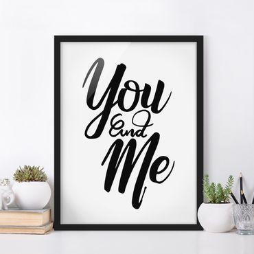 Bild mit Rahmen - You and me - Hochformat 3:4