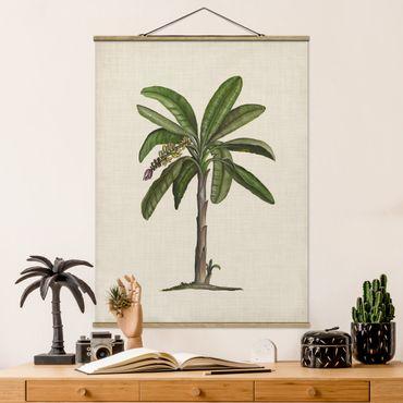 Stoffbild mit Posterleisten - Britische Palmen II - Hochformat 4:3
