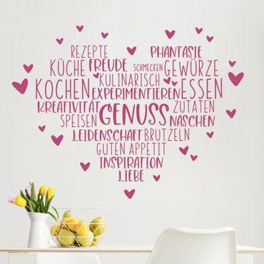 Wandtattoo - Herz Genuss