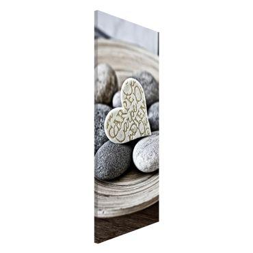 Magnettafel - Carpe Diem Herz mit Steinen - Memoboard Panorama Hochformat 2:1