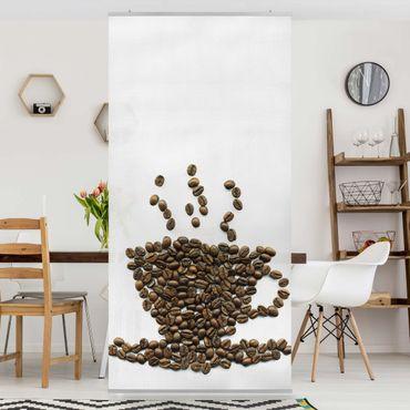 Raumteiler - Coffee Beans Cup 250x120cm