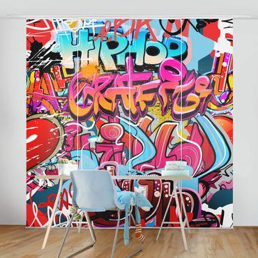 Schiebegardinen Set - HipHop Graffiti - Flächenvorhänge