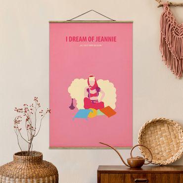 Stoffbild mit Posterleisten - Filmposter I dream of Jeannie - Hochformat 3:2