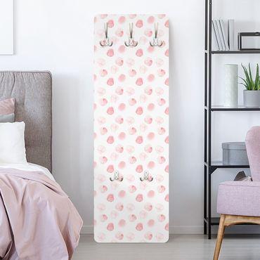 Garderobe - Aquarell Punkte Rosa