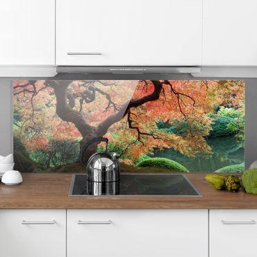 Spritzschutz Glas - Japanischer Garten - Panorama - 5:2