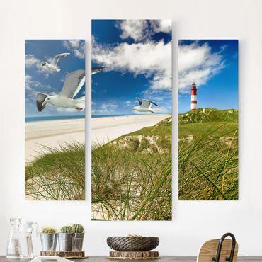 Leinwandbild 3-teilig - Dune Breeze - Galerie Triptychon
