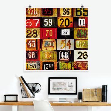 Poster - Numbers - Quadrat 1:1