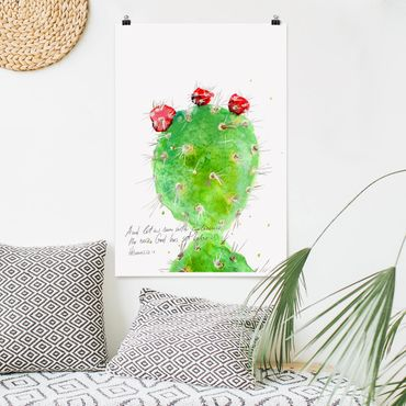 Poster - Kaktus mit Bibelvers IV - Hochformat 3:2