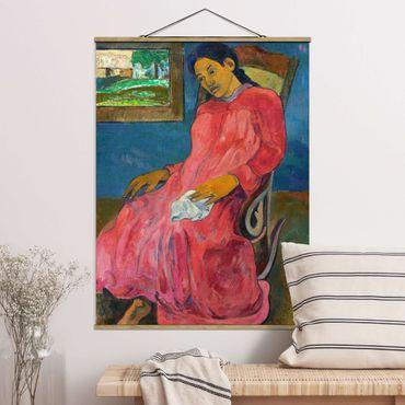 Stoffbild mit Posterleisten - Paul Gauguin - Melancholikerin - Hochformat 3:4