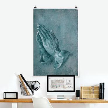 Poster - Albrecht Dürer - Studie zu Betende Hände - Hochformat 3:2