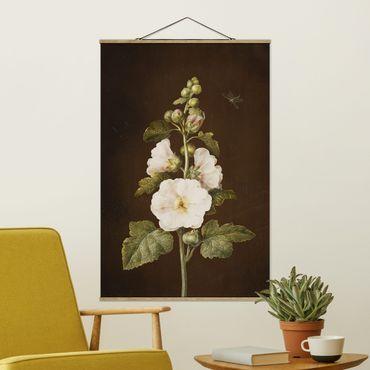 Stoffbild mit Posterleisten - Barbara Regina Dietzsch - Stockrose - Hochformat 3:2