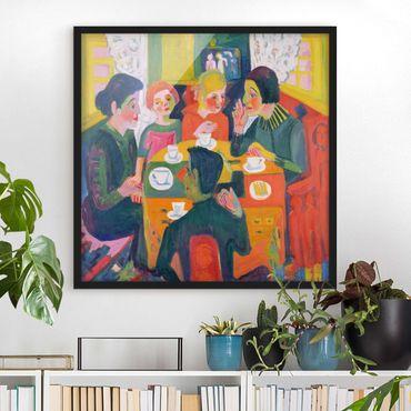 Bild mit Rahmen - Ernst Ludwig Kirchner - Kaffeetisch - Quadrat 1:1