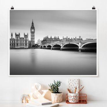 Poster - Westminster Brücke und Big Ben - Querformat 3:4