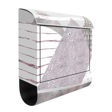 Briefkasten - Abstrakte Berglandschaft Pastellmuster