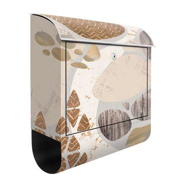 Briefkasten - Abstrakter Steinbruch Pastellmuster