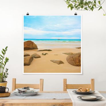 Poster - Rocky Beach - Quadrat 1:1