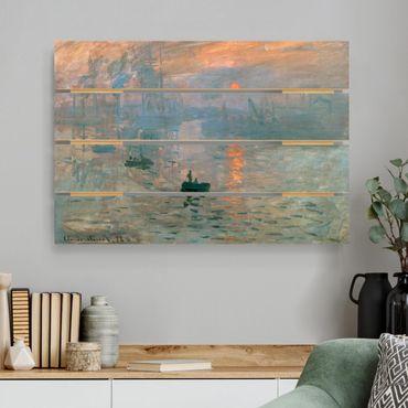 Holzbild - Claude Monet - Impression - Querformat 2:3