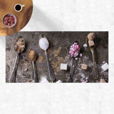Vinyl-Teppich - Vintage Löffel mit Zucker - Querformat 2:1