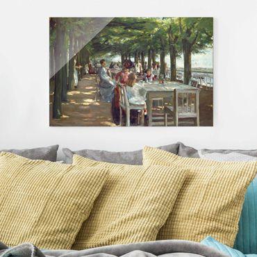 Glasbild - Max Liebermann - Terrasse des Restaurants Jacob - Querformat 2:3