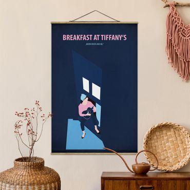 Stoffbild mit Posterleisten - Filmposter Breakfast at Tiffany´s - Hochformat 3:2