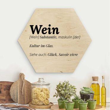 Hexagon Bild Holz - Die Definition von Wein