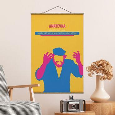 Stoffbild mit Posterleisten - Filmposter Anatevka - Hochformat 3:2