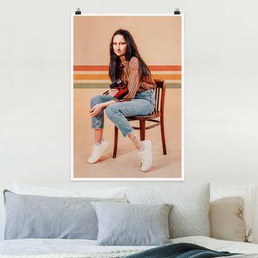 Poster - Jonas Loose - Retro Mona Lisa - Hochformat 3:2