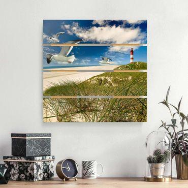 Holzbild - Dune Breeze - Quadrat 1:1