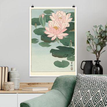 Poster - Ohara Shôson - Seerosen - Hochformat 3:2