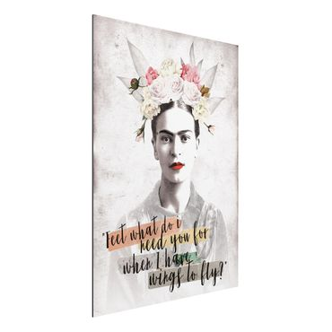 Alu-Dibond Bild - Frida Kahlo - Quote