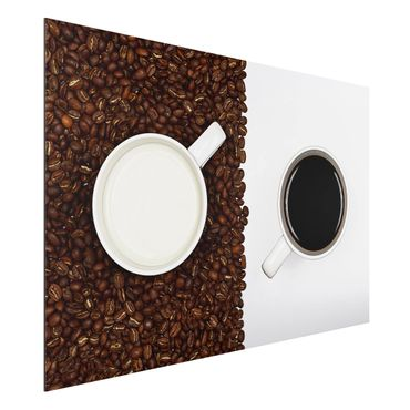 Alu-Dibond Bild - Milchkaffee